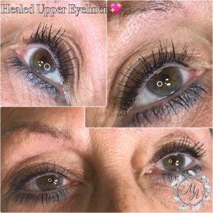 Melanie Aslin Permanent Makeup Healed Top Eyeliner