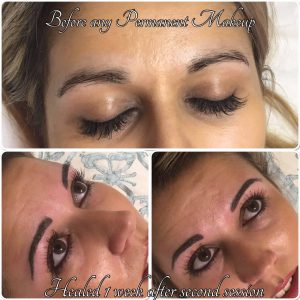 Melanie Aslin Permanent Makeup- Jess Healed Brows