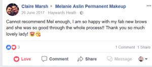 Melanie Aslin Permanent Makeup- Claire Testimonial