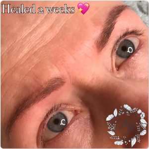 Melanie Aslin Permanent Makeup-Soft Powder Brows 2 weeks healed