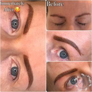 Melanie Aslin Permanent Makeup-Soft Powder Brows Brunette Collage