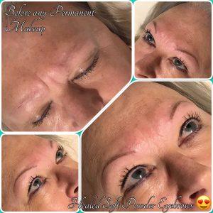 Healed Soft Powder Permanent Eyebrows