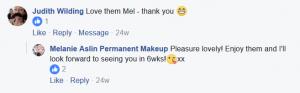 Melanie Aslin Permanent Makeup- Judith Testimonial