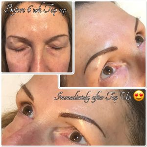 Melanie Aslin Permanent Makeup- Helen Soft Powder Brows w. microblading